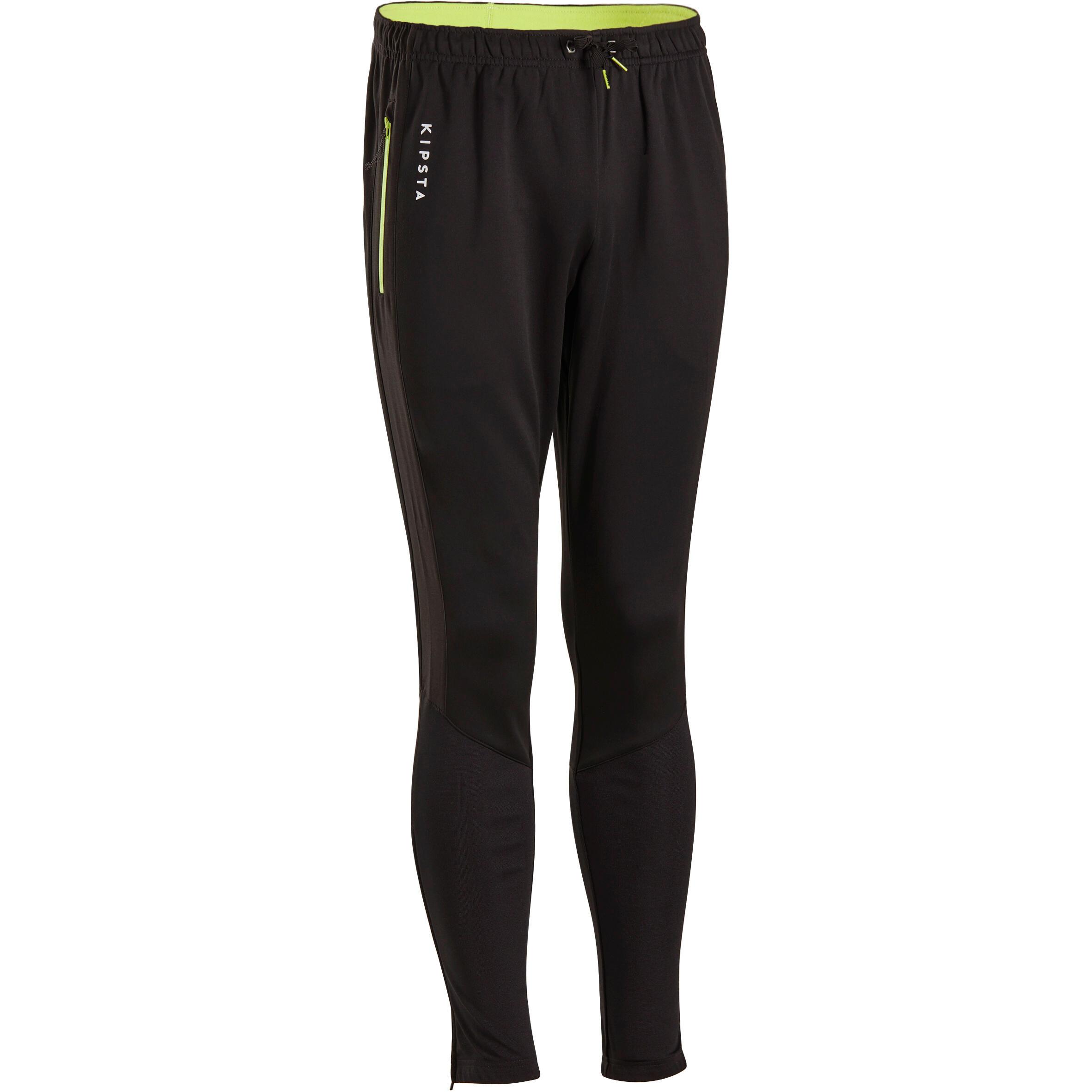 Pantalon d'entraînement de soccer adulte T500 noir