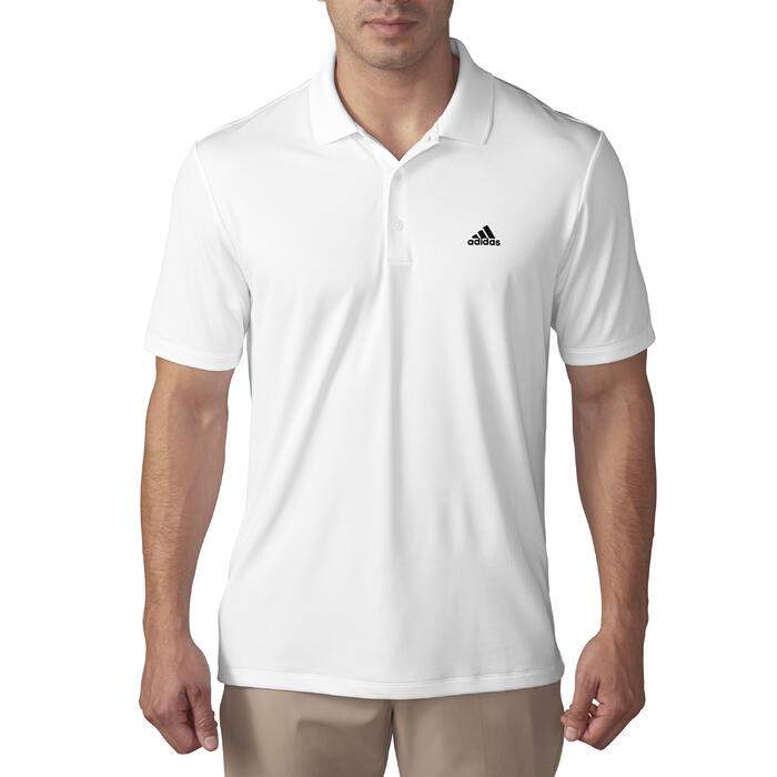 Golfpolo Adidas met korte mouwen voor heren, warm weer, wit