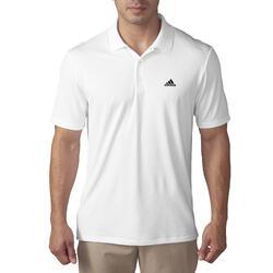 Polo de golf homme manches courtes Adidas temps chaud blanc