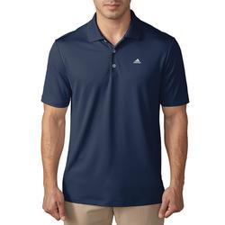 Golfpolo Adidas met korte mouwen voor heren, warm weer, marineblauw