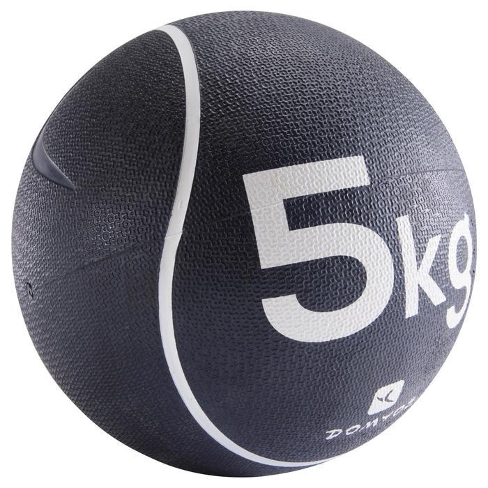 Balón Medicinal Lastrado Cross Training Pilates Domyos Toning 5kg Blanco