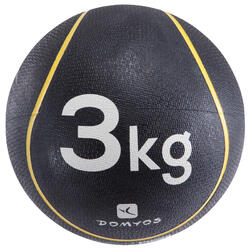 Balón Medicinal Lastrado Cross Training Pilates Domyos Toning 3kg Amarillo