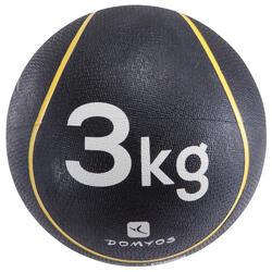 MEDECINE BALLE 3Kg | Diamètre 22cm JAUNE