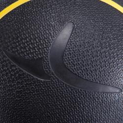 Balón Medicinal Lastrado Cross Training Pilates Domyos Toning 3kg Amarillo