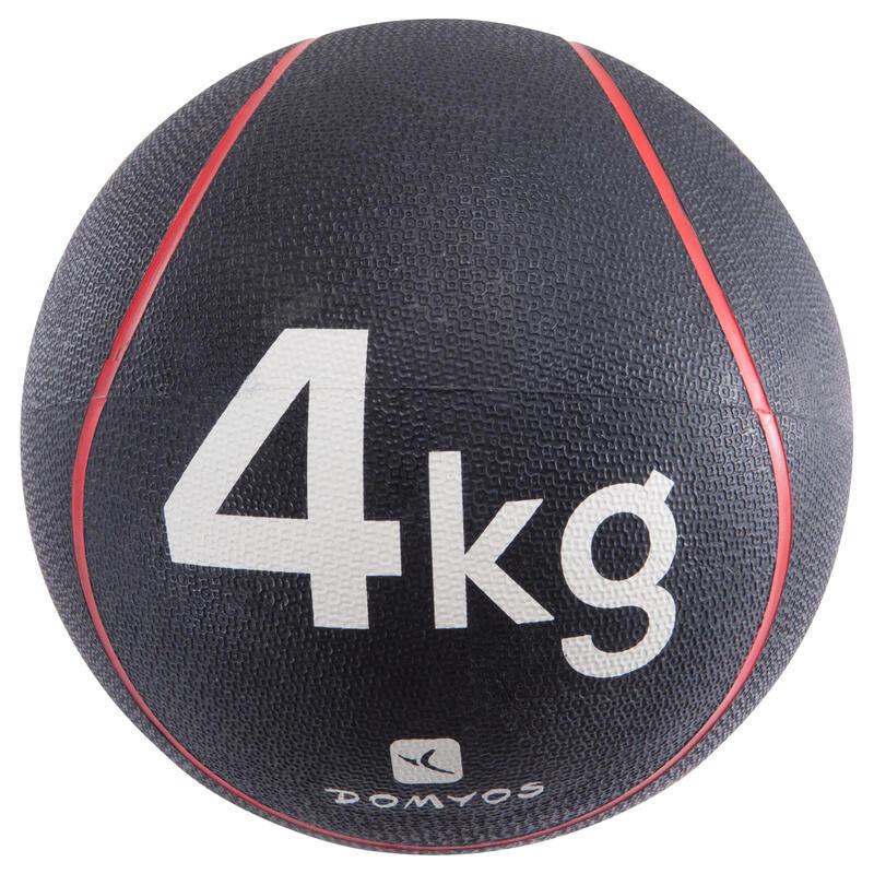 Minge Medicinală Fitness 4 kg Diametru 24 cm Roșu