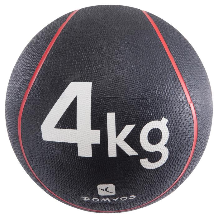 MEDECINE BALLE 4Kg | Diamètre 24cm ROUGE
