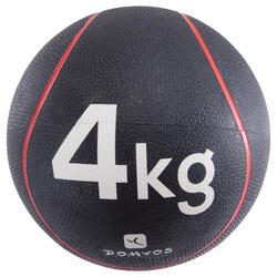 Medecine ball 4 kg | diameter 24 cm rood