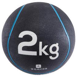 BALÓN MEDICINAL 2 kg | Diámetro 22 cm AZUL