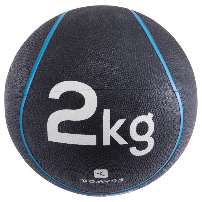 Balón Medicinal Lastrado Cross Training Pilates Domyos Toning 2kg Turquesa
