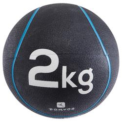 Verzwaarde medicine ball pilates figuurtraining 2 kg