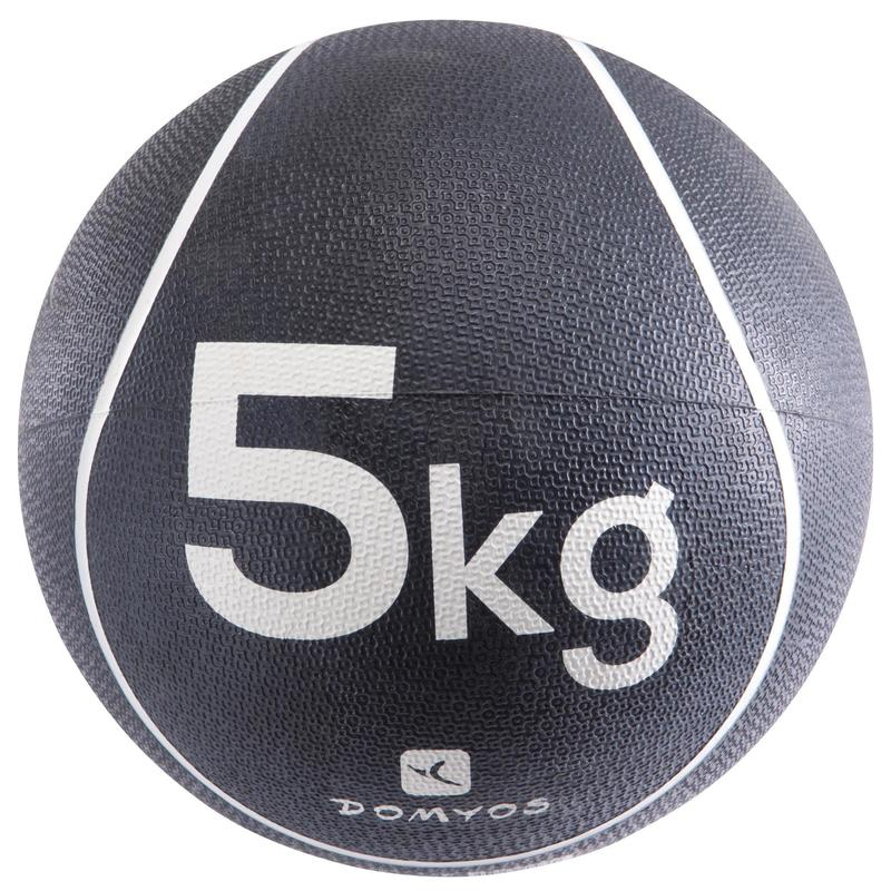 MEDECINE BALLE 5Kg | Diamètre 24cm BLANC