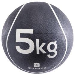Verzwaarde medicine ball pilates figuurtraining 5 kg