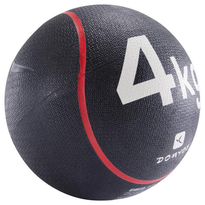 Balón Medicinal Lastrado Cross Training Pilates Domyos Toning 4kg Rojo