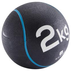 Verzwaarde medicine ball voor pilates/figuurtraining 2 kg