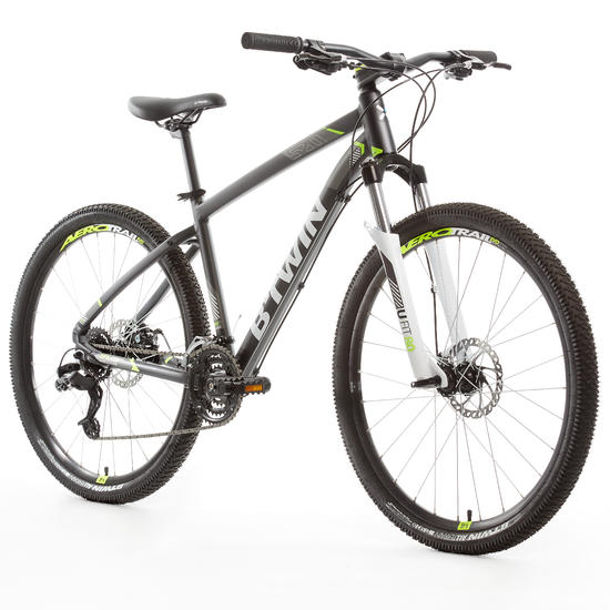 rockrider 520 27 5 mountain bike grey sport mtb. Black Bedroom Furniture Sets. Home Design Ideas