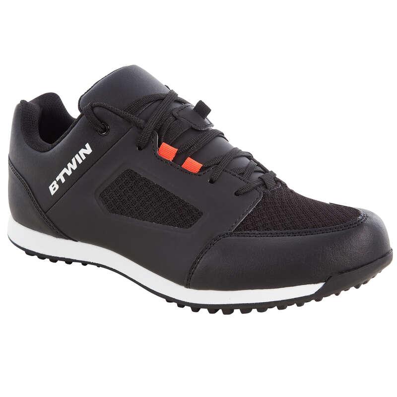SPORT TRAIL MTB SHOES - 100 Mountain Bike Shoes - Black ROCKRIDER