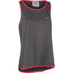 Boksshirt voor dames grijs/koraal