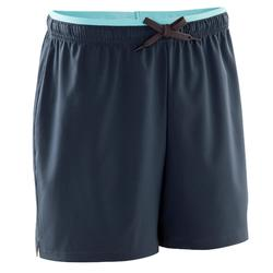 Pantalón corto de fútbol mujer F500 gris menta