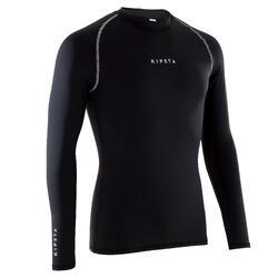 Camiseta térmica de fútbol manga larga adulto Keepdry 100 negro 7055e8755fe