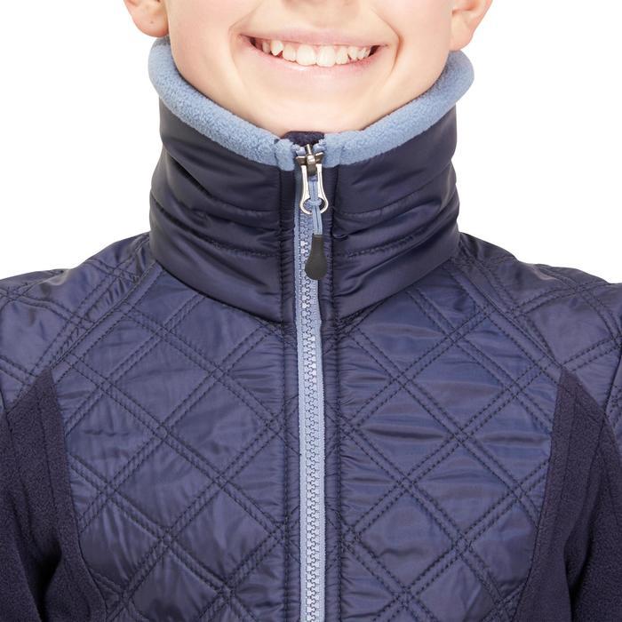 Reit-Fleecejacke Paddock Kinder marineblau/blau meliert