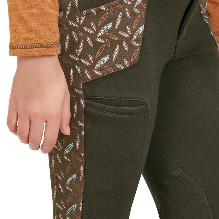 Pantalon équitation enfant BICOLO PRINT plumes marron