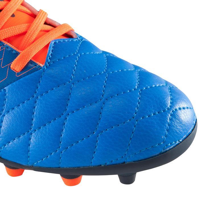 Chaussure de football enfant terrains secs Agility 500 FG bleu orange - 1176116