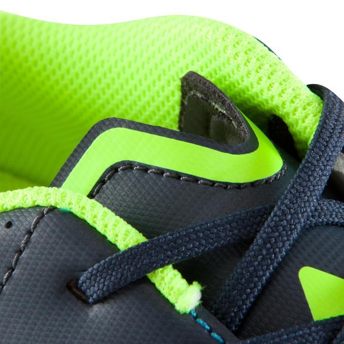 Chaussure de football adulte terrain sec Agility 500 FG bleue jaune