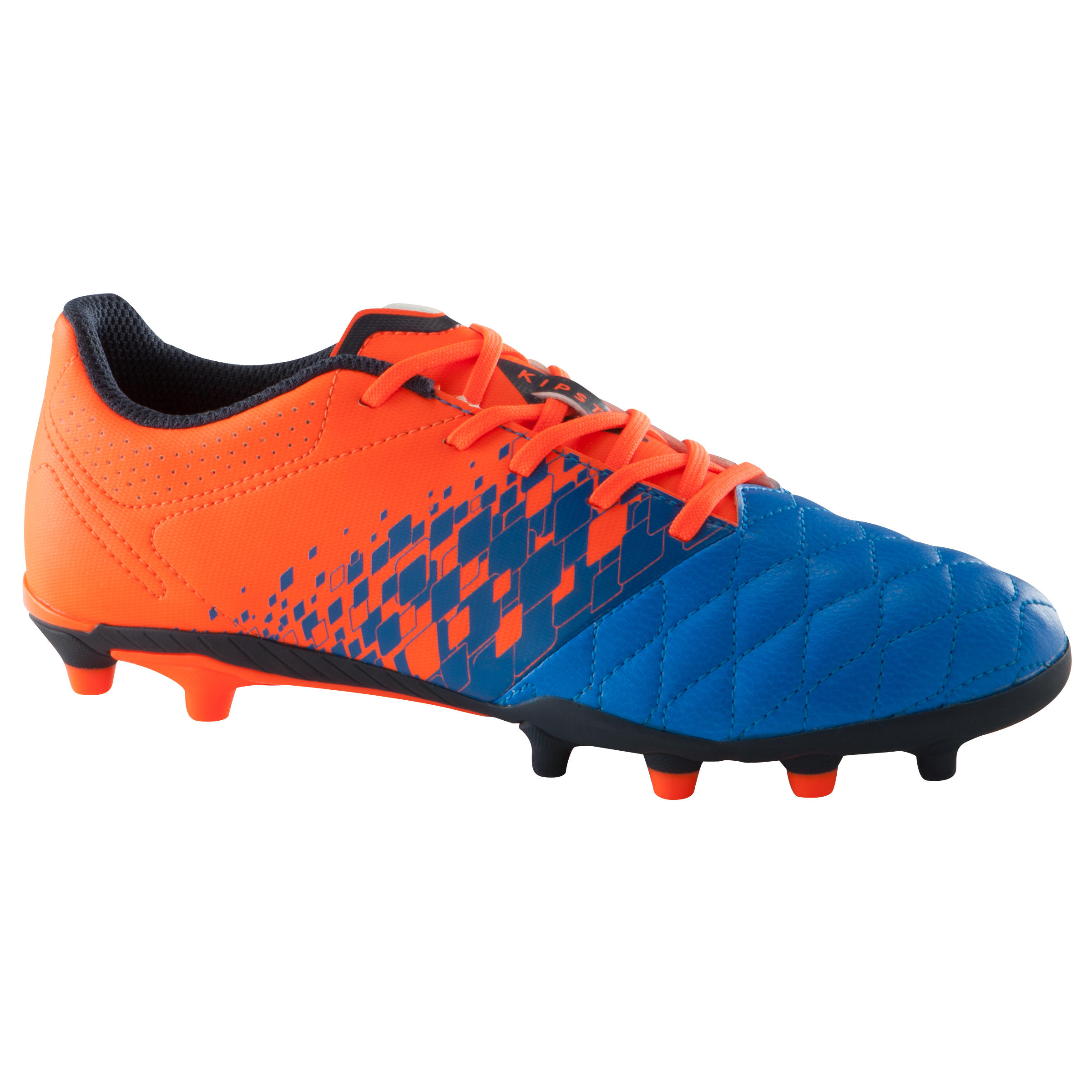 Agility 500 FG Kids' Dry Pitch Soccer Cleats - Blue/Orange