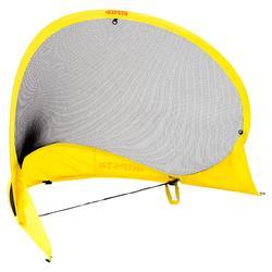 Portería de fútbol autodesplegable The Kage Light amarillo