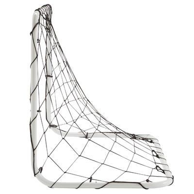 شبكة مرمى كرة قدم صغيرة الحجم - لون أبيض
