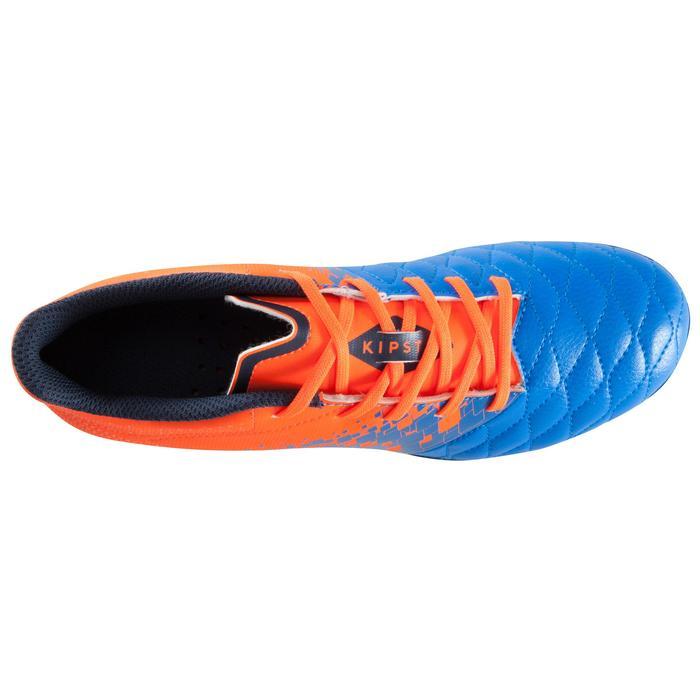 Chaussure de football enfant terrains secs Agility 500 FG bleu orange - 1176205