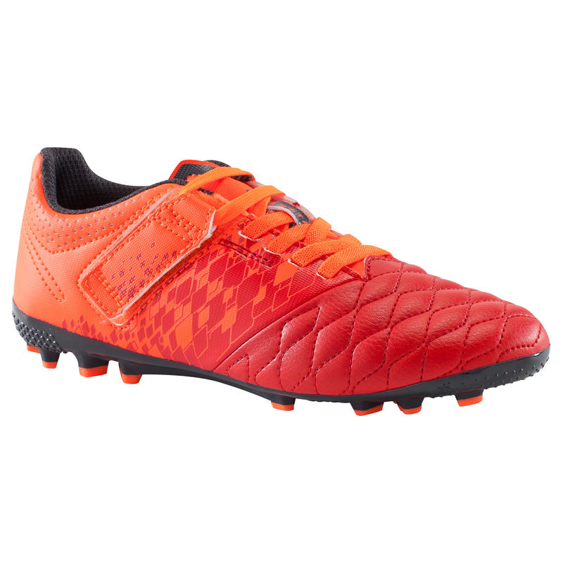 b20952f59 Agility 500 AG Kids' Artificial Turf Football Boots - Red + Rip-Tab