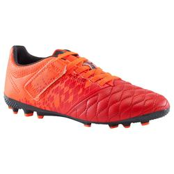 Agility 500 AG Kids' Artificial Turf Football Boots - Red + Rip-Tab
