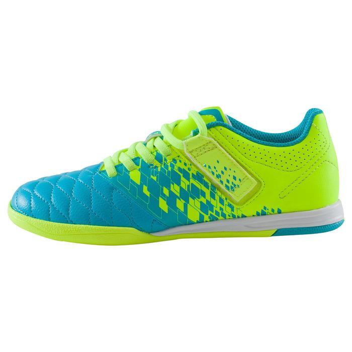 Chaussure de futsal enfant Agility 500 bleue à scratch - 1176253