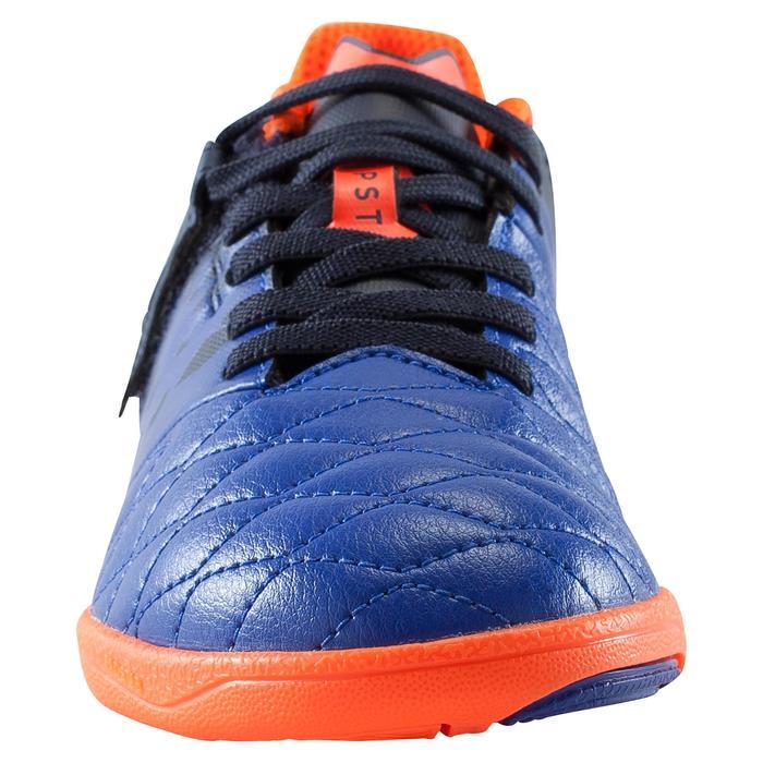 Chaussure de futsal enfant Agility 500 bleue à scratch - 1176257