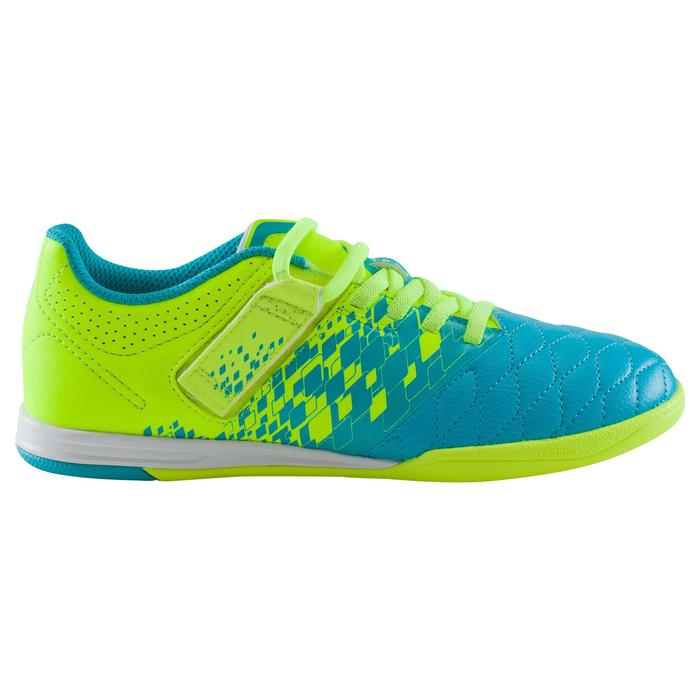 Chaussure de futsal enfant Agility 500 bleue à scratch - 1176276