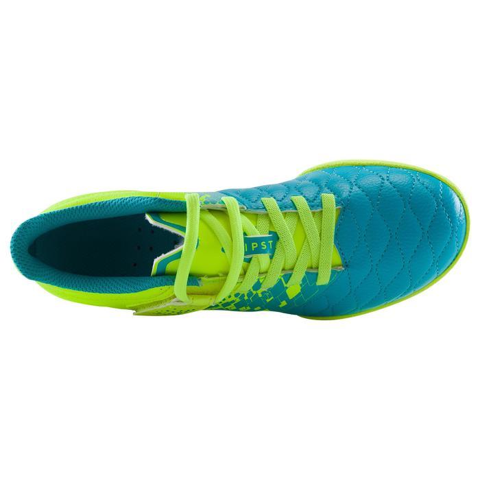 Chaussure de futsal enfant Agility 500 bleue à scratch - 1176277
