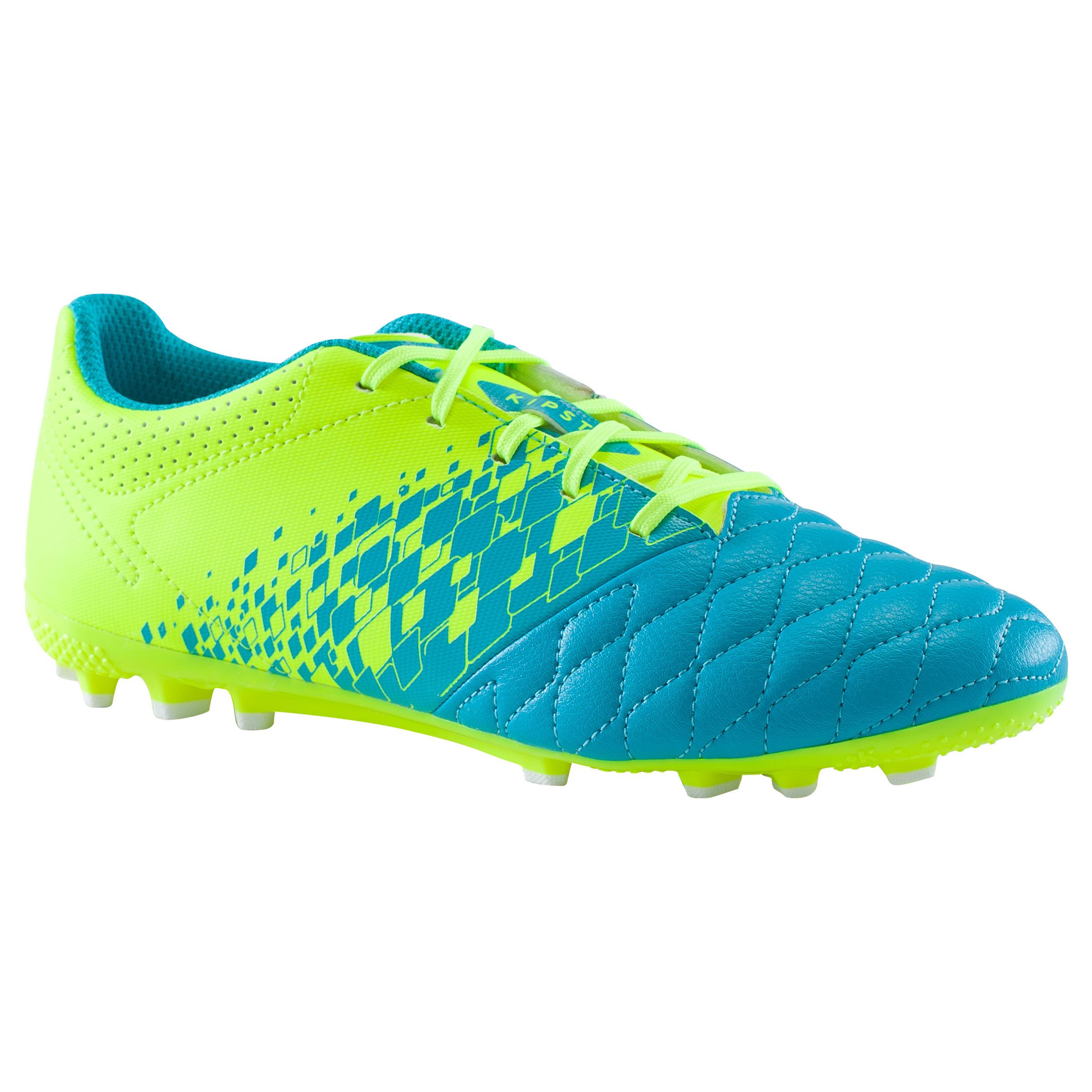Kids' Football Boots Agility 500 AG - Blue/Yellow