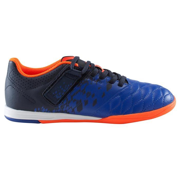 Chaussure de futsal enfant Agility 500 bleue à scratch - 1176304