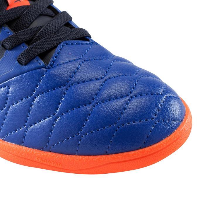 Chaussure de futsal enfant Agility 500 bleue à scratch - 1176323