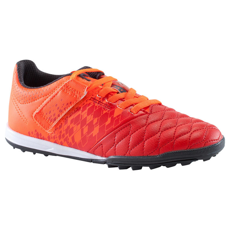 Agility 500 HG Kids' Hard Ground Football Boots with Rip-Tabs - Red/Orange