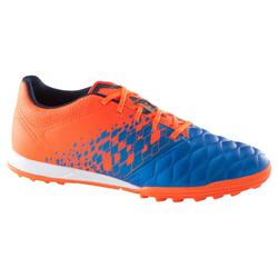 Agility 500 HG Kids' Hard Pitch Football Boots - Blue/Orange