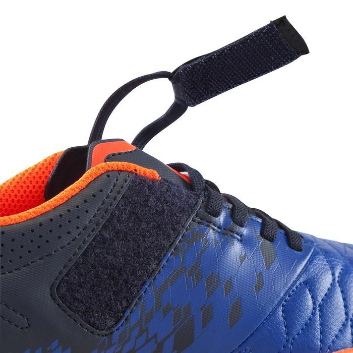 Zapatillas de fútbol sala júnior Agility 500 azul tira autoadherente