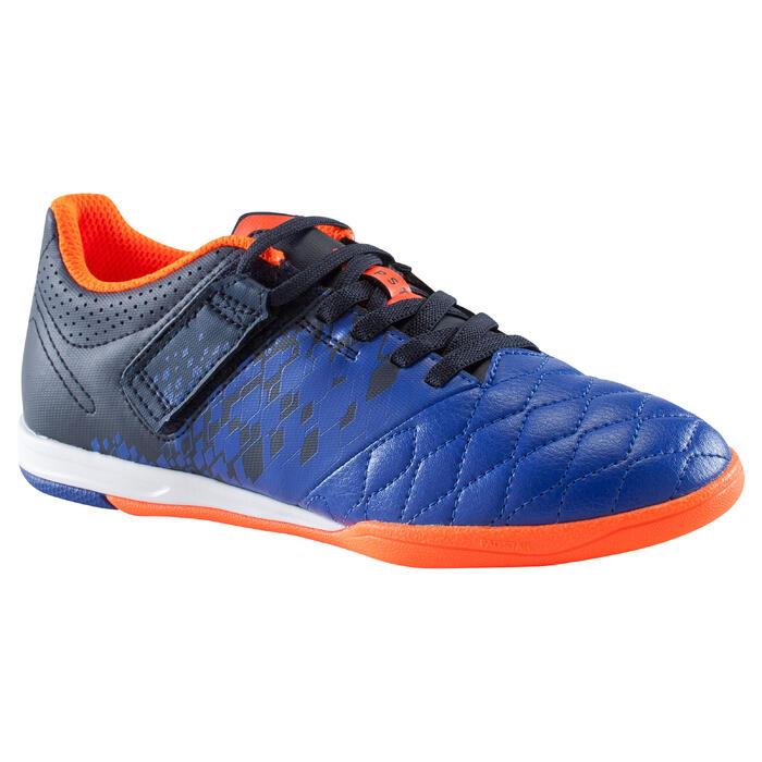 Chaussure de futsal enfant Agility 500 bleue à scratch - 1176392