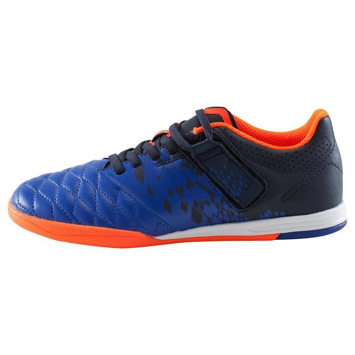 Chaussure de futsal enfant Agility 500 bleue à scratch - 1176393