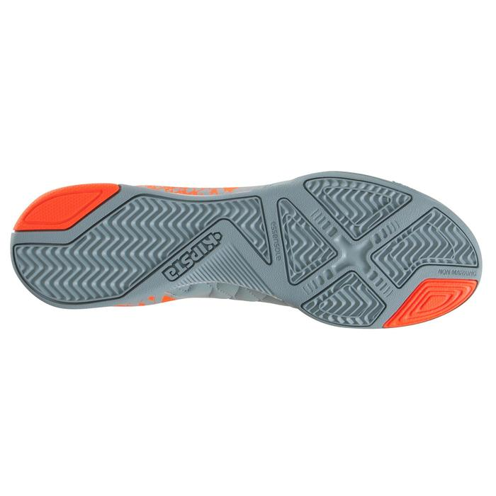 Zapatillas de fútbol sala adulto Agility 500 gris naranja