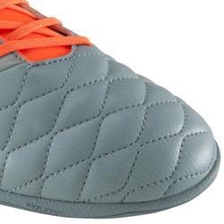 Zaalvoetbalschoenen Agility 500 grijs/oranje