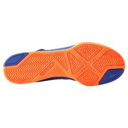 Chaussure de futsal enfant Agility 500 bleue à scratch