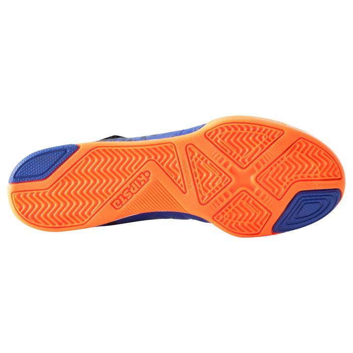Zaalvoetbalschoenen voor kinderen Agility 500 blauw klittenband