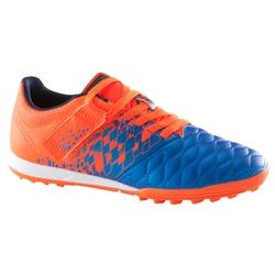 Agility 500 HG Kids' Hard Pitch Football Boot With Rip-Tab - Blue/Orange